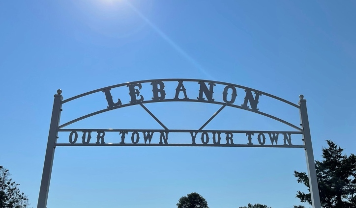 Lebanon Our Town Your Town Sign